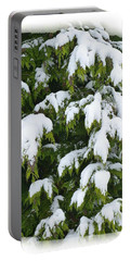 Portable Battery Charger featuring the photograph Snowy Cedar Boughs by Will Borden