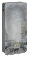 Snowy Day - Market Street Saint Louis Portable Battery Charger