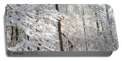 Snowy Dogwood Bloom Portable Battery Charger