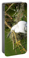 Portable Battery Charger featuring the photograph Snowy Egret 003 by Chris Mercer