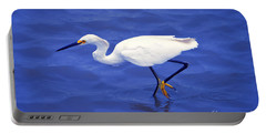 Snowy Egret 1 Portable Battery Charger by Bill Holkham