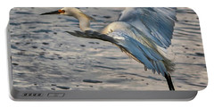 Snowy Egret Landing Portable Battery Charger