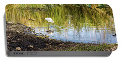 Snowy Egret Reflections Portable Battery Charger