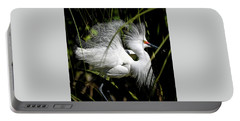 Portable Battery Charger featuring the photograph Snowy Egret by Steven Sparks