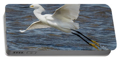 Snowy Egret Taking Off Portable Battery Charger