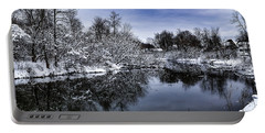 Portable Battery Charger featuring the photograph Snowy Ellicott Creek by Nicole Lloyd