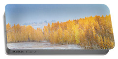 Snowy Fall Morning In Colorado Mountains Portable Battery Charger