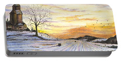 Snowy Farm Portable Battery Charger