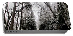Portable Battery Charger featuring the photograph Snowy Kapowsin Wa Road by Sadie Reneau