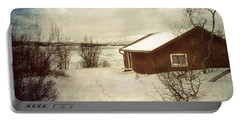 Snowy Landscape Portable Battery Charger by Vittorio Chiampan