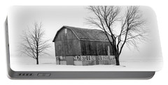 Snowy Little Barn Portable Battery Charger