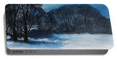 Snowy Moonlight Night Portable Battery Charger