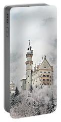 Snowy Neuschwanstein Portable Battery Charger