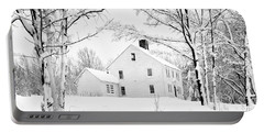 Snowy New England Homestead Portable Battery Charger
