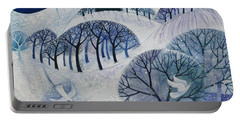 Snowy Night  Portable Battery Charger by Lisa Graa Jensen