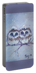 Snowy Owl Chicks Portable Battery Charger