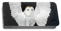 Snowy Owl Portable Battery Charger by Christine Lathrop