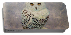 Snowy Owl Portable Battery Charger by Janet McDonald