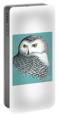 Snowy Owl Portrait 2 Portable Battery Charger