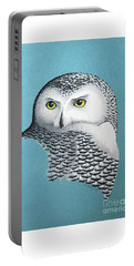 Snowy Owl Portrait 3 Portable Battery Charger