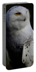 Snowy Owl Profile Portable Battery Charger by Steve McKinzie