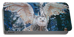 Snowy Owl On Takeoff  Portable Battery Charger