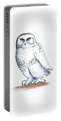 Snowy Owl Sketch 2 Portable Battery Charger