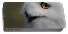 Snowy Owl Up Close Portable Battery Charger
