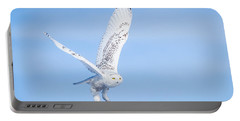 Snowy Owls Soaring Portable Battery Charger