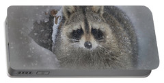 Snowy Raccoon Portable Battery Charger