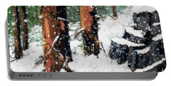 Snowy Redwood Dream Portable Battery Charger