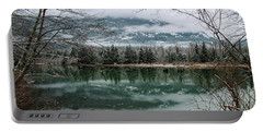 Snowy Reflection Portable Battery Charger