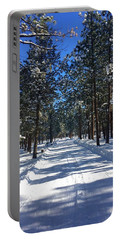 Snowy Road Portable Battery Charger