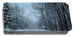Snowy Street Portable Battery Charger