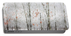 Portable Battery Charger featuring the photograph Snowy Trees Abstract by Benanne Stiens