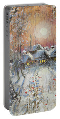 Snowy Village Portable Battery Charger