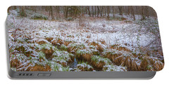 Snowy Wetlands Portable Battery Charger by Angelo Marcialis