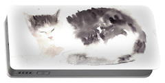 Snuggling Cat Portable Battery Charger