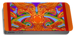 So Hot It Will Burn Your Face Off Art And Text Portable Battery Charger