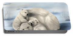 Portable Battery Charger featuring the painting So Much Love by Veronica Minozzi