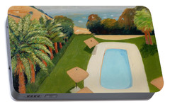 Portable Battery Charger featuring the painting So Very California by Gary Coleman