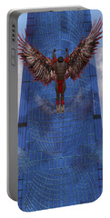 Portable Battery Charger featuring the digital art Soar by Iowan Stone-Flowers