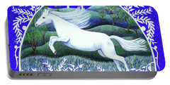 Portable Battery Charger featuring the painting Soar by Lise Winne