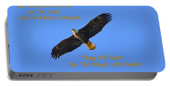 Soar On The Wings Like Eagles Isaiah 40 31  Portable Battery Charger