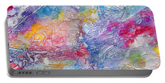 Portable Battery Charger featuring the painting Soaring Ever Higher by Tracy Bonin