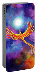 Soaring Firebird In A Cosmic Sky Portable Battery Charger