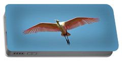 Soaring Roseate Spoonbill Portable Battery Charger