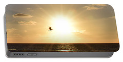 Soaring Seagull Sunset Over Imperial Beach Portable Battery Charger