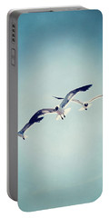 Portable Battery Charger featuring the photograph Soaring Seagulls by Trish Mistric