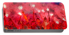 Soccer Fans Pictures Portable Battery Charger